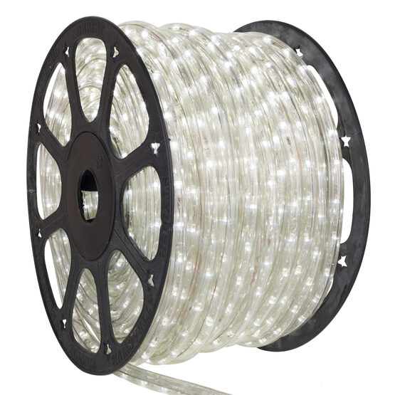 150' Cool White Chasing LED Rope Light, 120 Volt, 3/8""