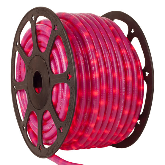 150' Pearl Pink Chasing Rope Light, 120 Volt, 1/2""