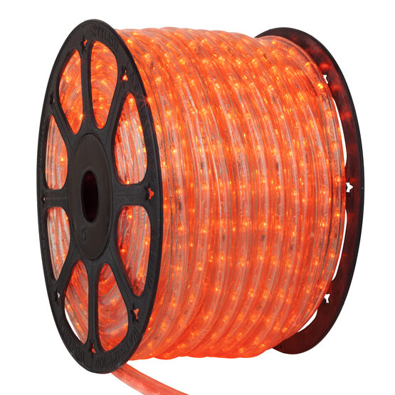 Orange LED Rope Light, 120 Volt