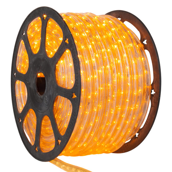 "153' Yellow LED Rope Light, 120 Volt, 1/2"""