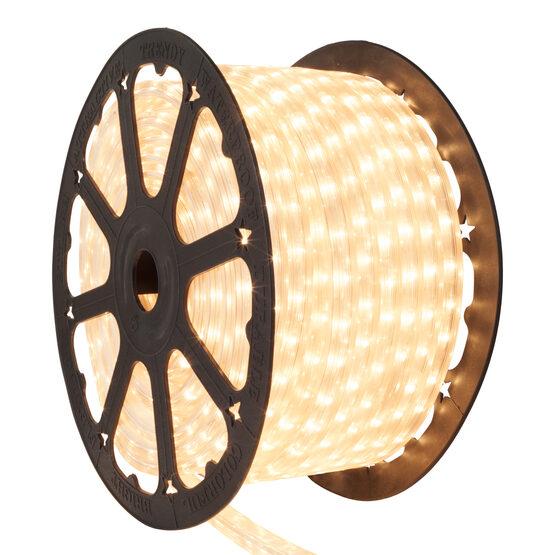 """150' Clear Rectangular Rope Light, 120 Volt, 1/2"""" x 3/4"""""""