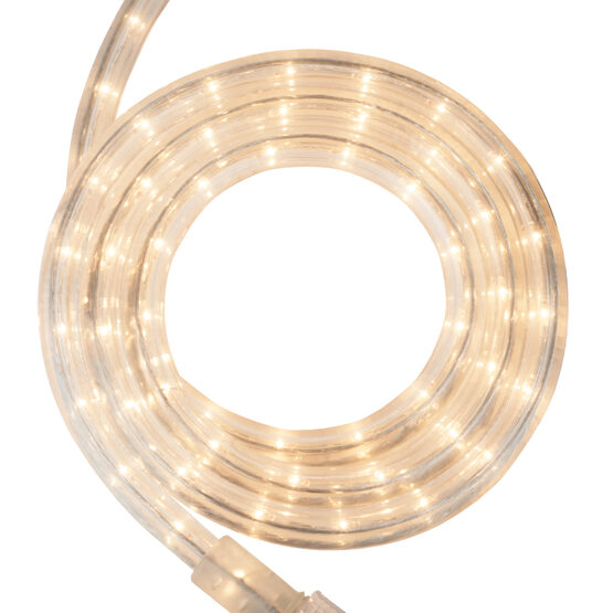 30' Clear Rope Light, 120 Volt, 1/2""