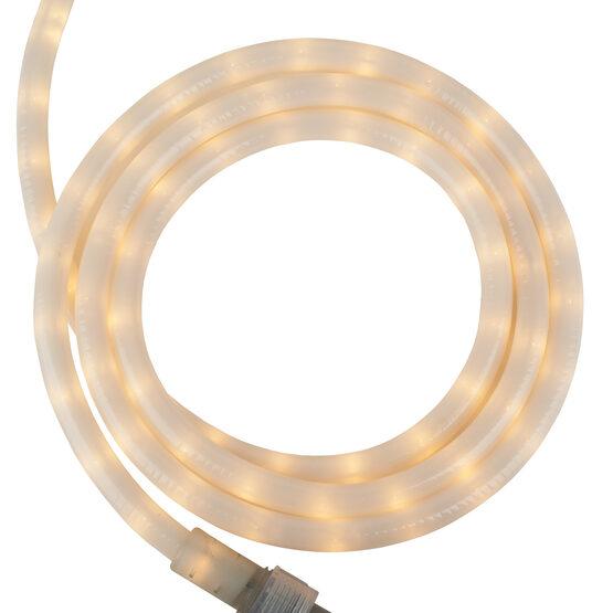 """12' Pearl White Rope Light, 120 Volt, 1/2"""""""