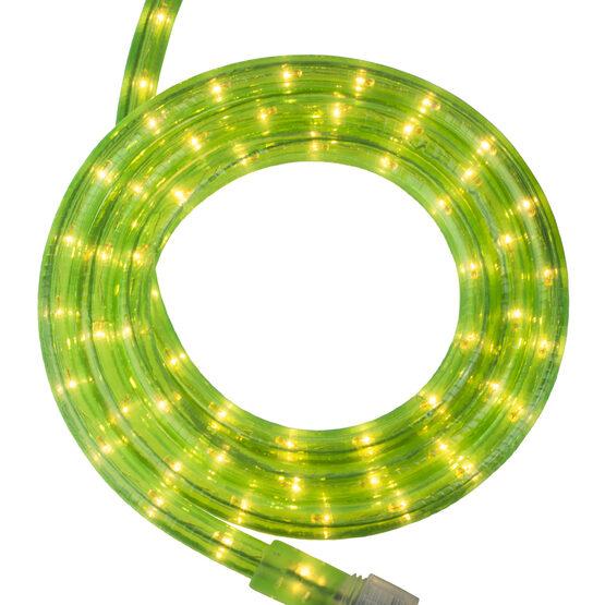 """12' Fluorescent Green Rope Light, 120 Volt, 1/2"""""""