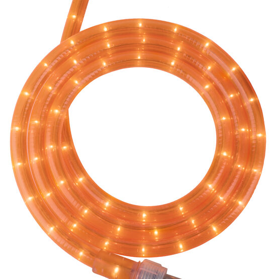 "30' Fluorescent Orange Rope Light, 120 Volt, 1/2"""