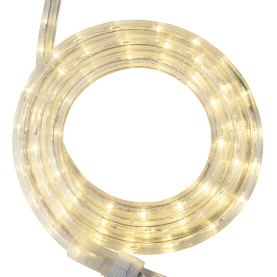 30' Warm White LED Rope Light, 120 Volt, 1/2""