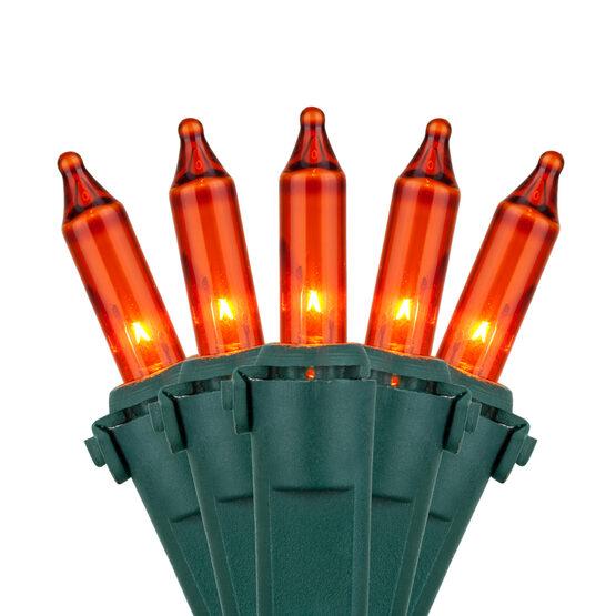 Premium Amber / Orange Mini String Lights