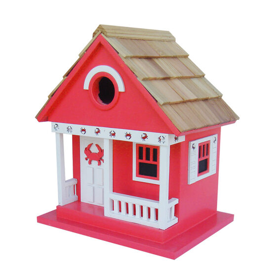 Crab Cottage Beach 1 Room Hanging Bird House