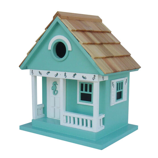 Beach Sea Horse Cottage 1 Room Hanging Bird House