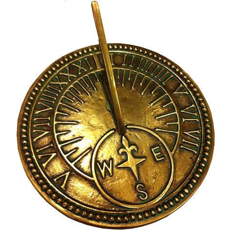 Roman Brass Garden Sundial