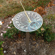 Contemporary Stainless Steel 2.6' Sundial Pedestal