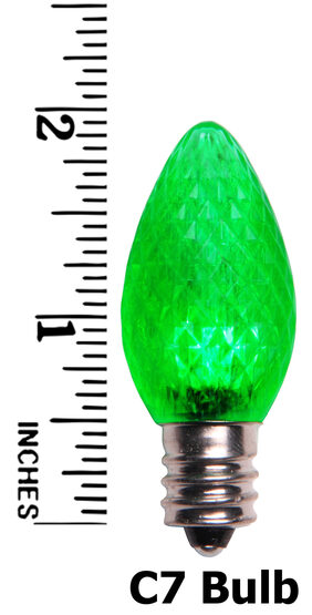 C7 LED Light Bulb, Green