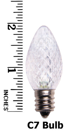 C7 LED Light Bulb, Cool White Twinkle
