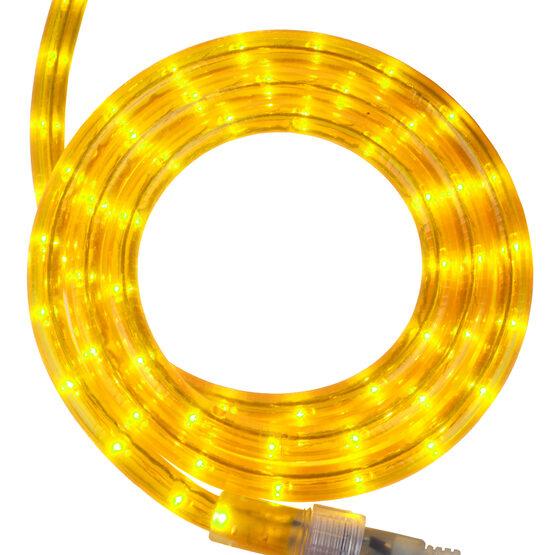 "12' Yellow Rope Light, 120 Volt, 1/2"""