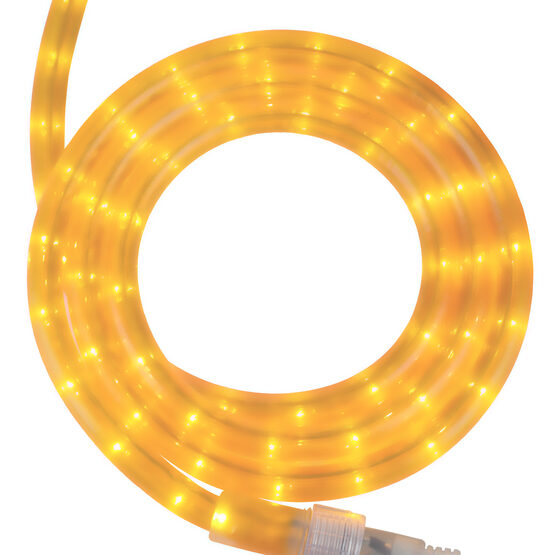 """30' Pearl Yellow Rope Light, 120 Volt, 1/2"""""""