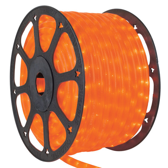 Pearl Orange Rope Lights, 120 Volt