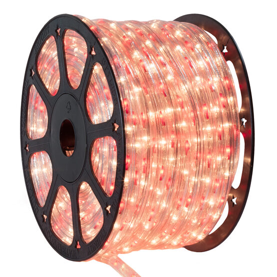 Red, Clear Rope Lights, 120 Volt