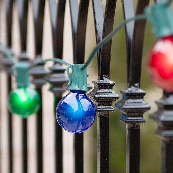 25' Globe String Lights, 25 Multicolor G50 Bulbs