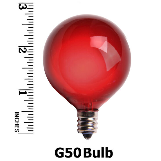 G50 Globe Bulbs, Multicolor Satin, E12 Base