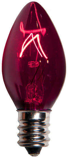 C7 Light Bulb, Purple