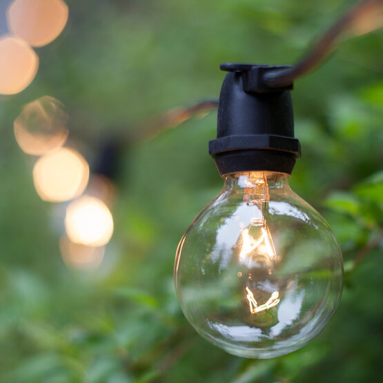 mercial Patio String Lights Clear G50 Bulbs Yard Envy