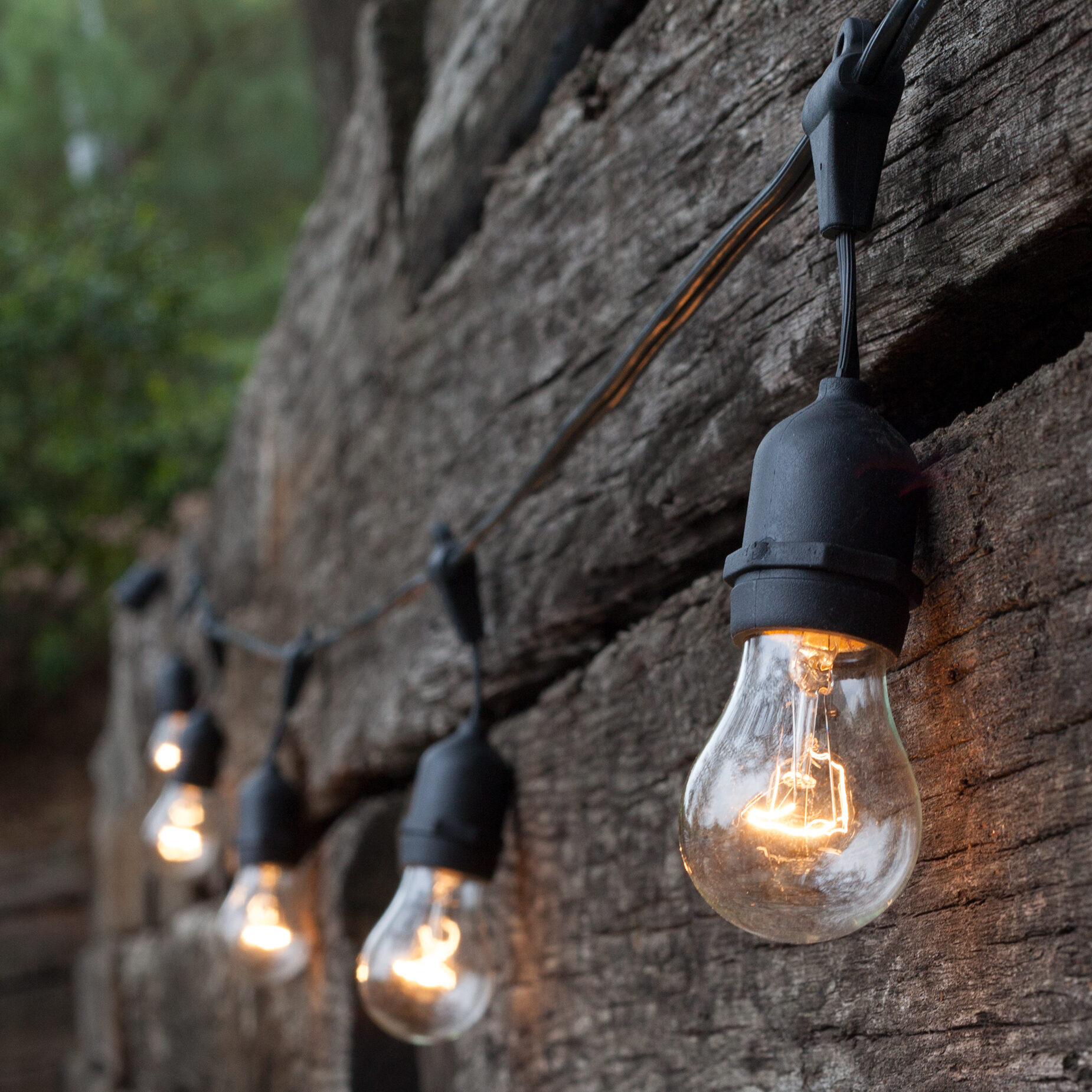 Perfect Commercial Patio String Lights, Clear A15 Bulbs