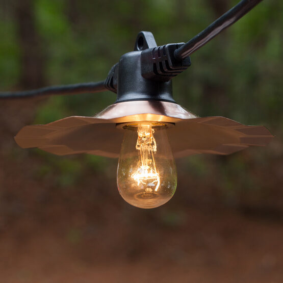 Outdoor Patio String Lights, Clear S14 Bulbs