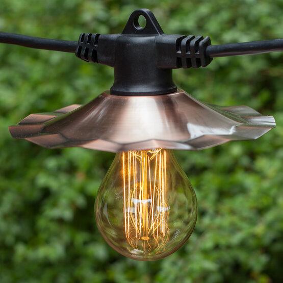 35' Patio String Lights, 7 Clear A75 Bulbs