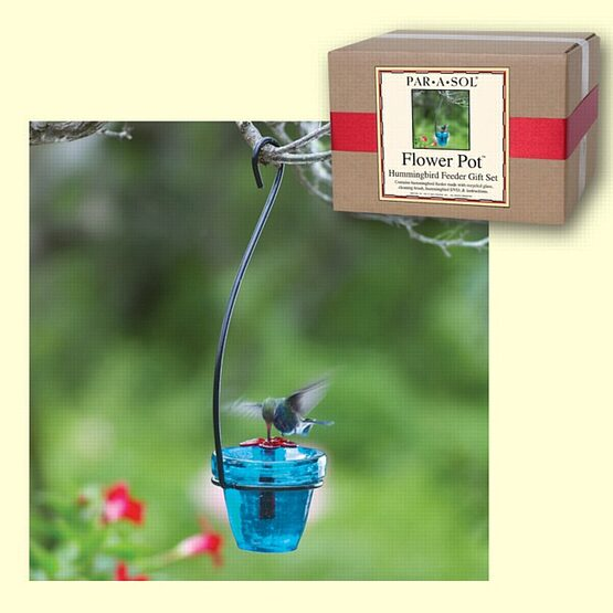Flower Pot Gift Set Hummingbird Feeder