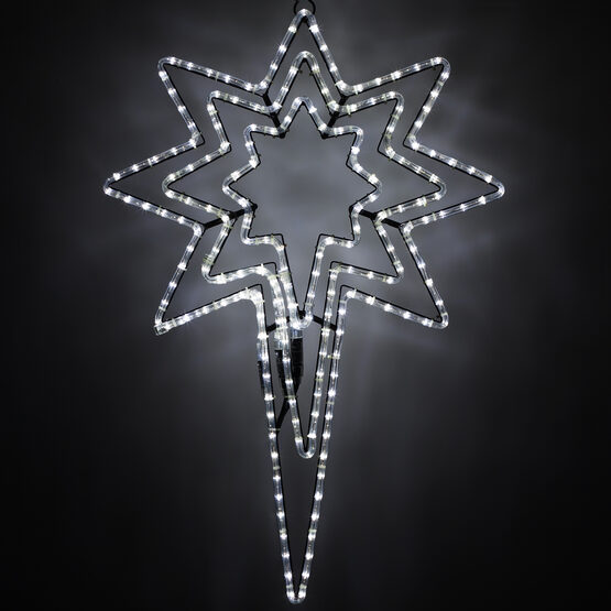 LED Bethlehem Star Motif, Cool White Lights