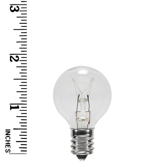 G30 Globe Bulbs, Clear, E12 Base