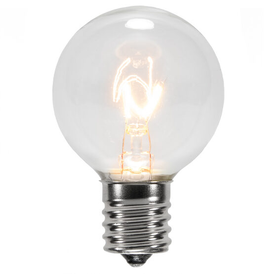 G40 Globe Bulbs, Clear, E17 Base