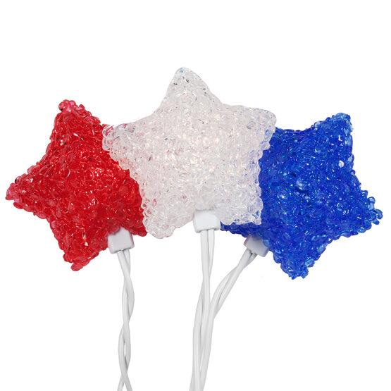 Red White Blue Star Umbrella 35 Light Set