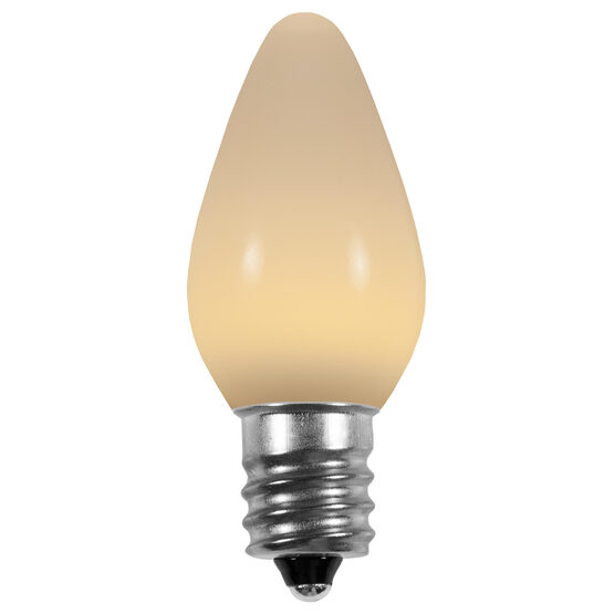 C7 Smooth LED Light Bulb, Warm White