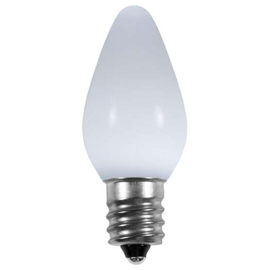 C7 Smooth LED Light Bulb, Cool White