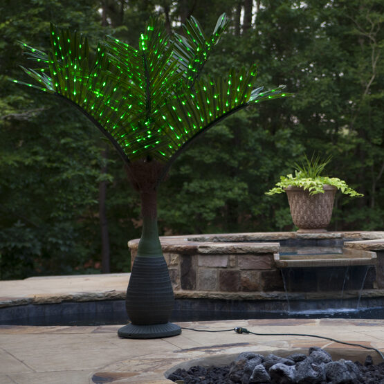Bottle Commercial LED Lighted Palm Tree with Green Canopy