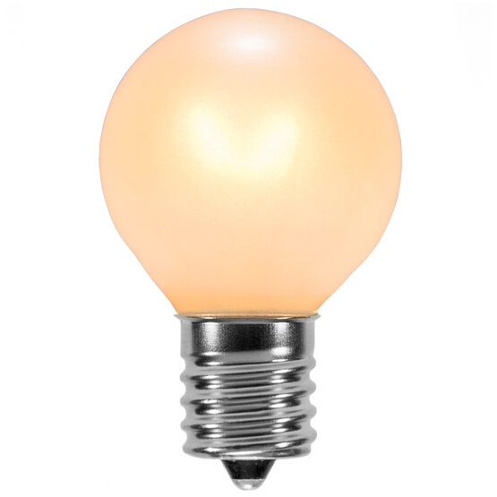 G30 Globe Bulbs, Pearl White, E12 Base