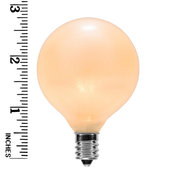 G50 Globe Bulbs, Pearl White, E12 Base