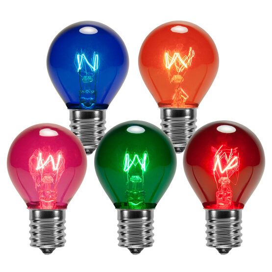 S11 Colored Party Bulbs, Multicolor