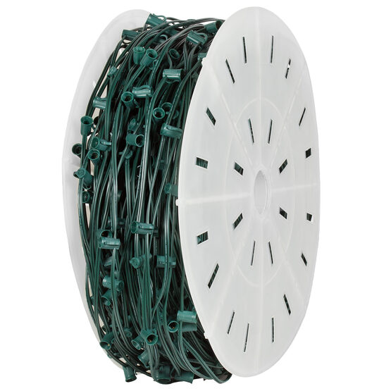 C9 Commercial Light String Spool, Green Wire