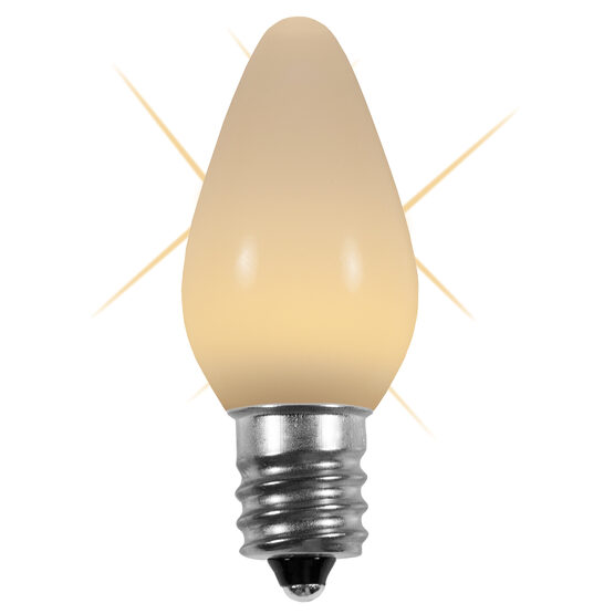 C7 Smooth LED Light Bulb, Warm White Twinkle
