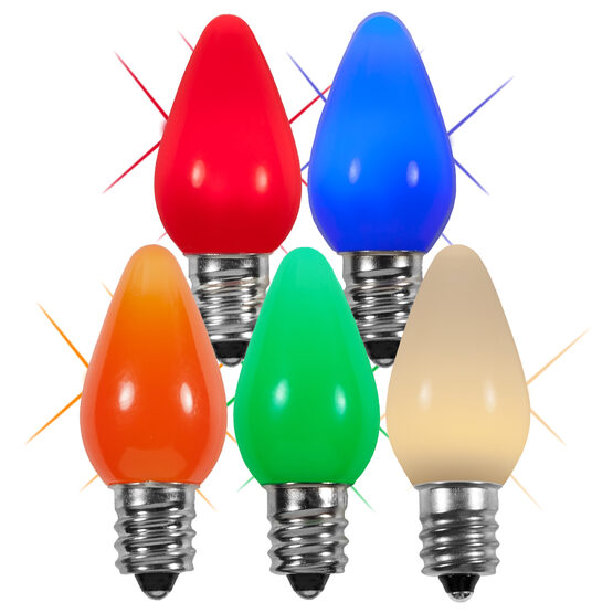 C7 Smooth LED Light Bulb, Multicolor Twinkle