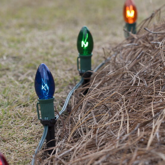 C7 Pathway Lights, Multicolor, 4.5'' Stakes