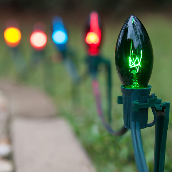 C9 Pathway Lights, Multicolor, 7.5'' Stakes