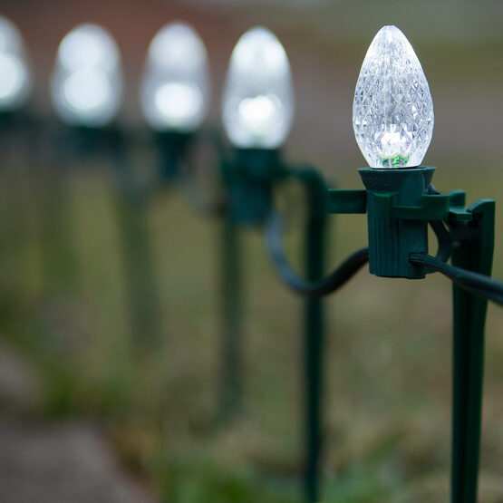 C7 LED Pathway Lights, Cool White, 7.5'' Stakes