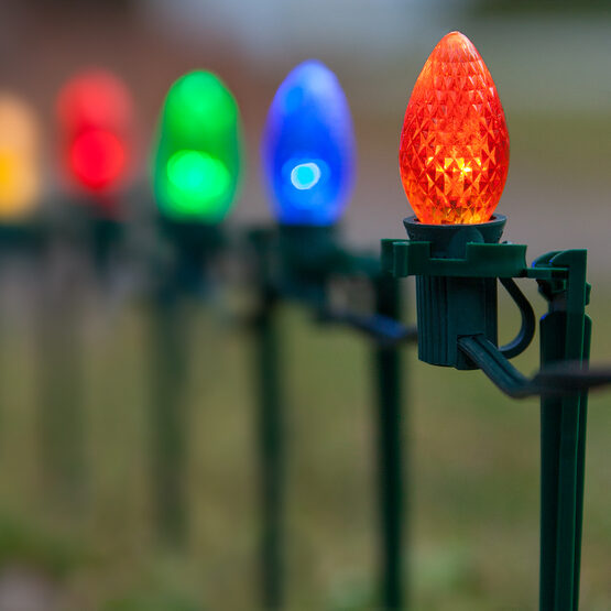 C7 LED Pathway Lights, Multicolor, 7.5'' Stakes