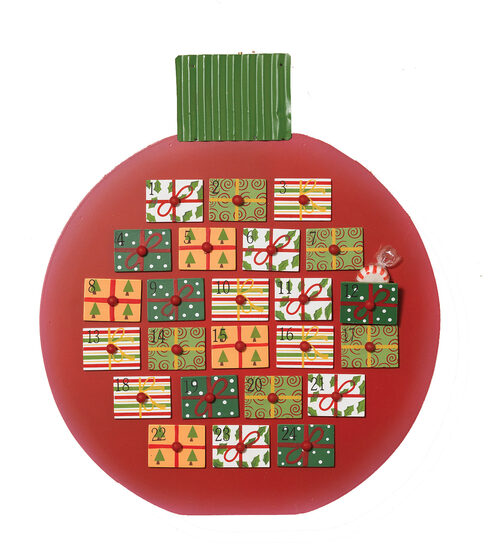 Ornament Christmas Advent Calendar with Drawers