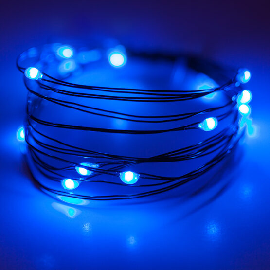 7 Led Fairy Lights Blue Green Wire Yard Envy