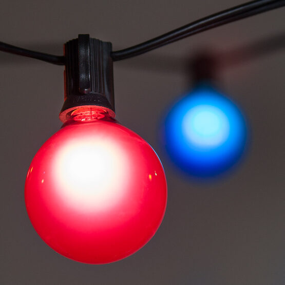 15' Globe String Lights, 15 Multicolor G50 Bulbs