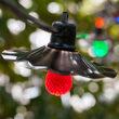 48' Cafe String Lights, 15 Multicolor S14 LED Bulbs